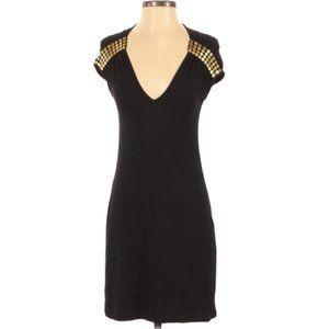 Melissa Odabash Cocktail Dress Black & Gold Small